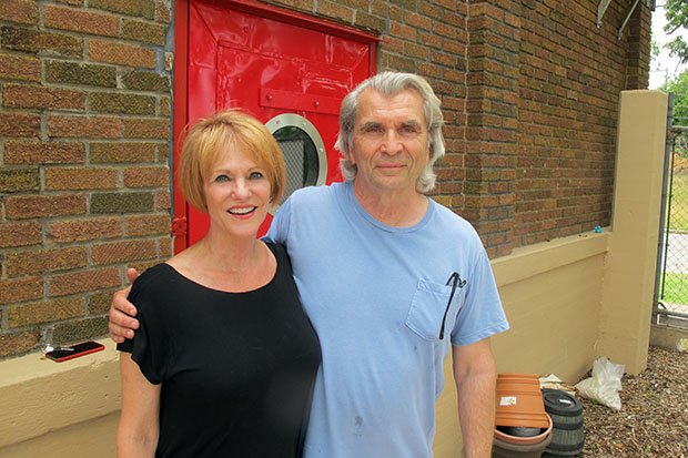 Claudia Kamas and Dan Hollacher, owners of the Electric Transformer House.
