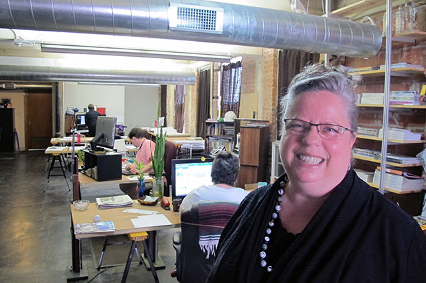 Catherine Montgomery at Preservation and Design Studio, which helped guide the restoration of the Electric Transformer House.