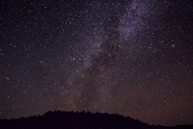 The skies in the Oklahoma Panhandle are dark enough to view the Milky Way without a telescope.