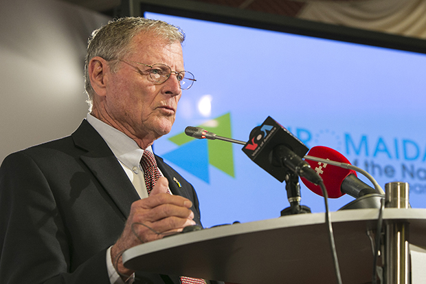 James Inhofe during his visit to Kyiv, Ukraine, October 27-28, 2014