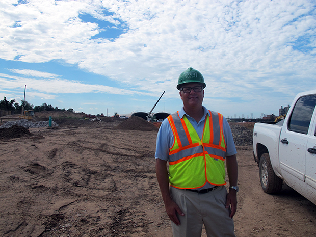 A Gathering Place for Tulsa's executive director, Jeff Stava, at the park's construction sight in Tulsa, Okla.