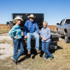Sarah, Dave and Barbara Jacques on their farm and ranch in Osage County. The Jacques family strongly supports a 'yes' vote on State Question 777.