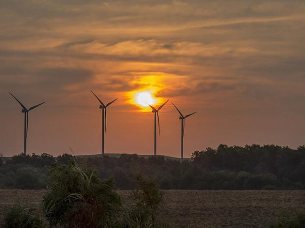 The Blue Canyon Wind Farm near Apache, Okla.