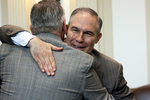 Oklahoma Attorney General Scott Pruitt at the state capitol in 2016.