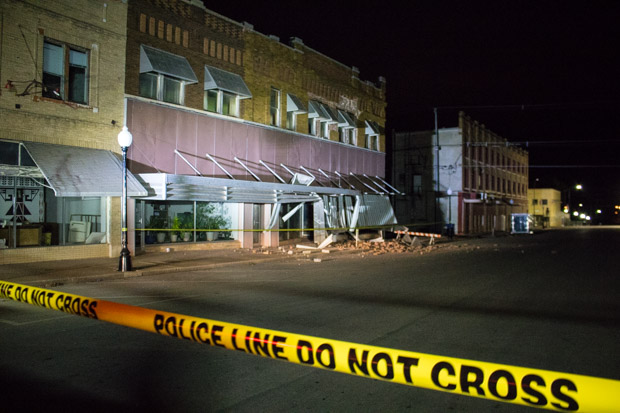 A 5.0-magnitude earthquake in November 2016 damaged dozens of buildings in downtown Cushing, Okla.