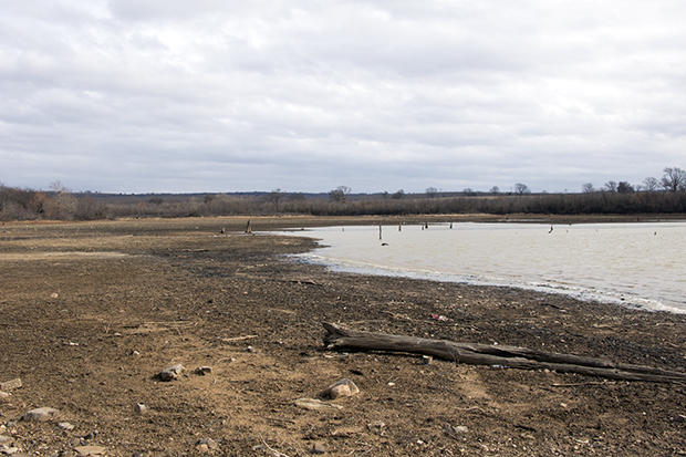Atoka Lake in southeast Oklahoma is in the middle of the state's most drought affected area.