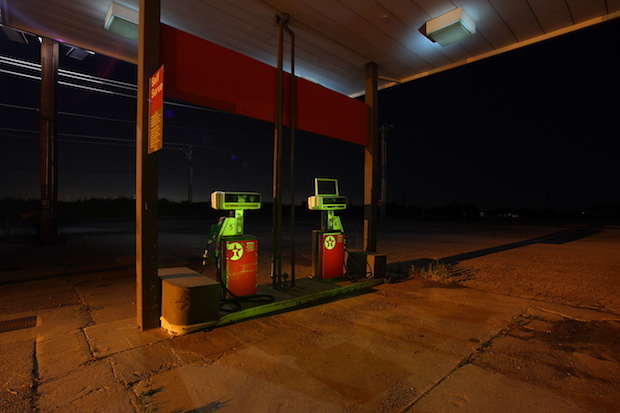 An abandoned gas station near Edmond, Okla.