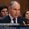 Oklahoma Attorney General Scott Pruitt testifying at a Jan. 18 confirmation hearing on his nomination as administrator of the U.S. Environmental Protection Agency.