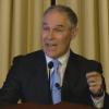 Scott Pruitt addressed EPA's 15,000 employees in a short speech on Feb. 21, 2017.