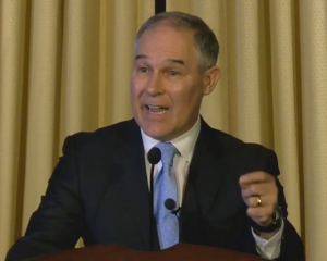 Scott Pruitt addressed EPA's 15,000 employees in a short speech on Feb. 21, 2017.