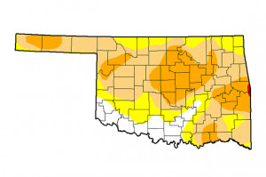 Oklahoma drought conditions as of February 21, 2017