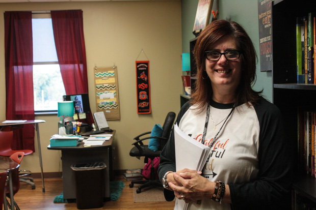 Luther High School teacher Rhonda Hlavaty.