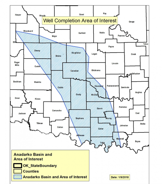 Updated guidelines from the Corporation Commission affect energy companies fracking wells in western Oklahoma oil fields.