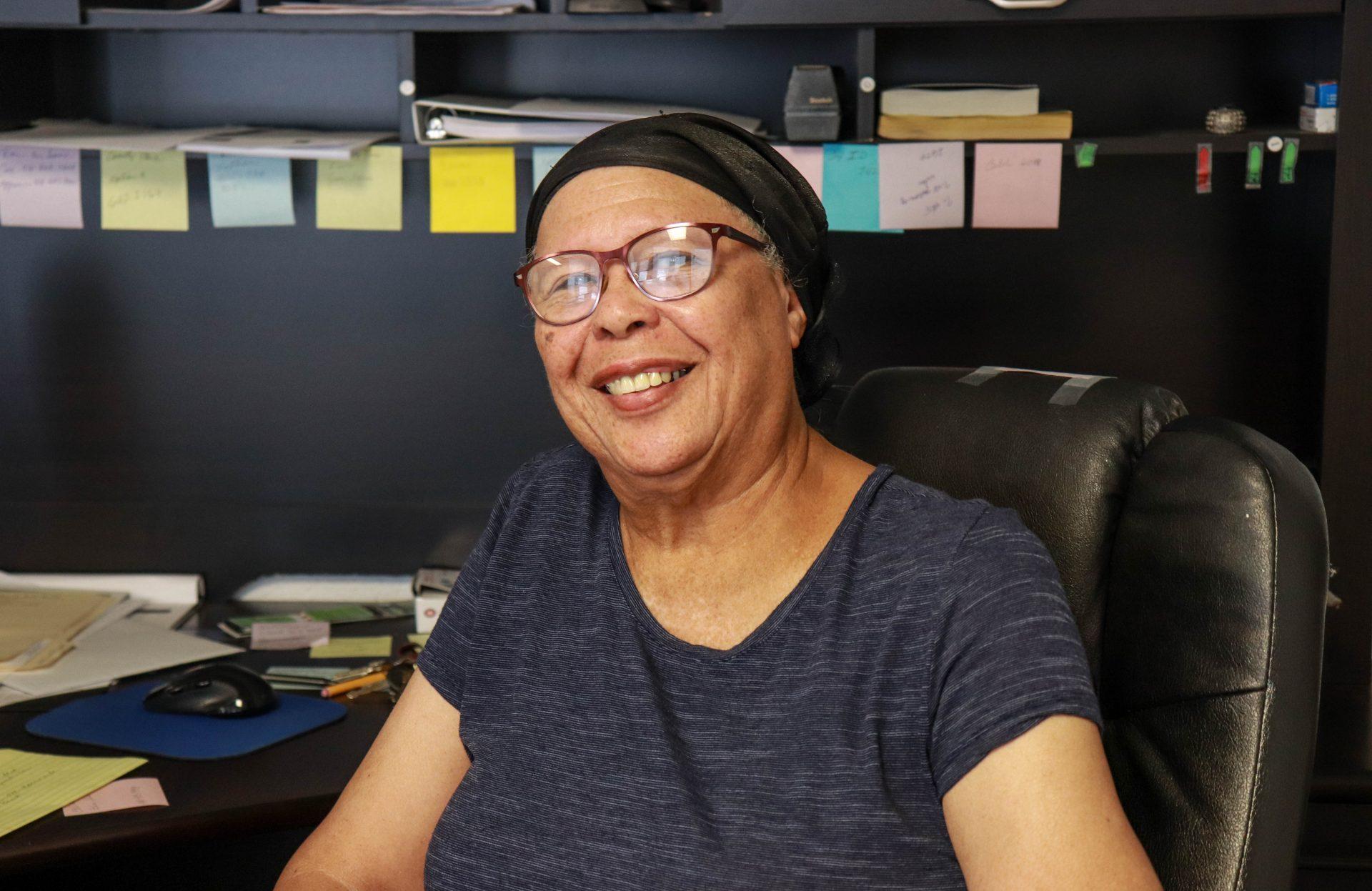 Taft Mayor Elsie Caesar sits at her office desk in Taft.