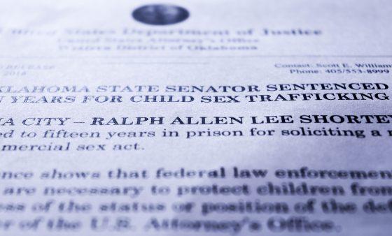 A news release announcing Ralph Shortey's sentencing.