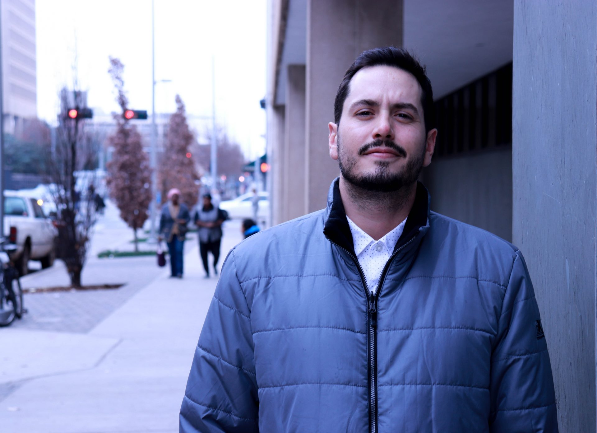 Matt Hall outside the Oklahoma County District Courthouse
