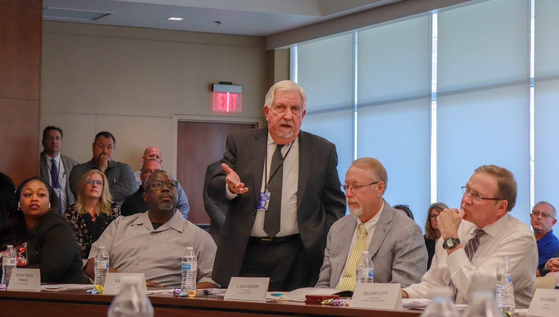 Sheriff P.D. Taylor explains his frustrations with the proposal at the Oklahoma County Criminal Justice Advisory Council meeting.