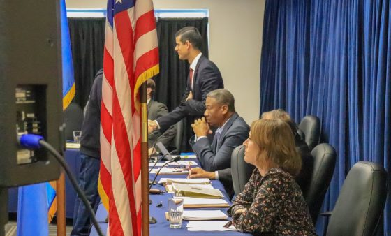 Pardon and Parole Board members during a special meeting in November.