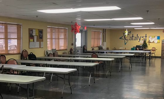 A room full of desks in Catalyst's new residential treatment center in Enid.