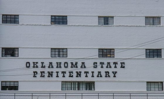 An outside wall of Oklahoma State Penitentiary.