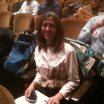 Iris Marie Bloom at a Delaware River Basin Commission hearing.