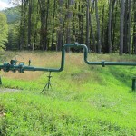 A natural gas pipeline runs through Susquehannock State Forest.