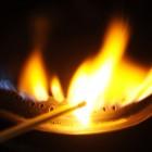 Burning gas flame.