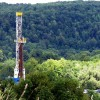 A drilling rig in the Tioga Staet Forest