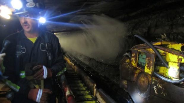 Inside a coal mine in Greene County, Pennsylvania.