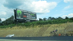 Billboards promoting coal now line Pennsylvania's highways.