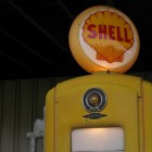 An antique Shell gasoline pump at an Ohio oil and gas museum.