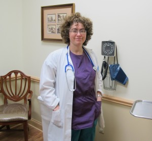 Dr. Amy Pare at her practice in suburban Pittsburgh.
