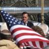 Republican Mitt Romney campaigns in Wyoming County, Pennsylvania