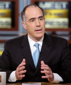"Sen. Bob Casey (D-PA) speaks on an episode of ""Meet the Press,"" April, 2008."
