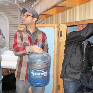 Filmmaker Josh Fox helps deliver fresh water to Dimock residents. Fox's documentary Gasland put the town's water problems in the national spotlight.