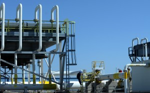 A gas compressor station in Bulgaria.