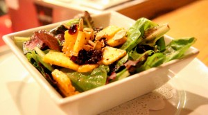 A pumpkin salad with locally grown greens served at the Summerhouse Grill on Beer and Sausage night.