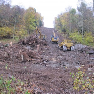 Pipeline construction in Susquehanna county, Pa.
