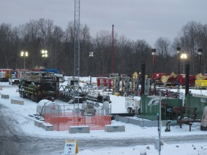 A natural gas drilling operation in Tioga County.