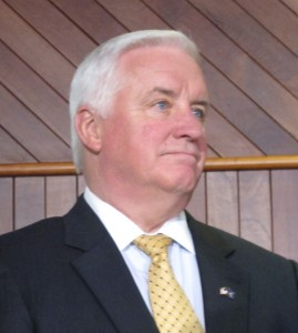 Governor Corbett met privately with two Bradford County Commissioners today to  discuss concerns over gas royalty payments.