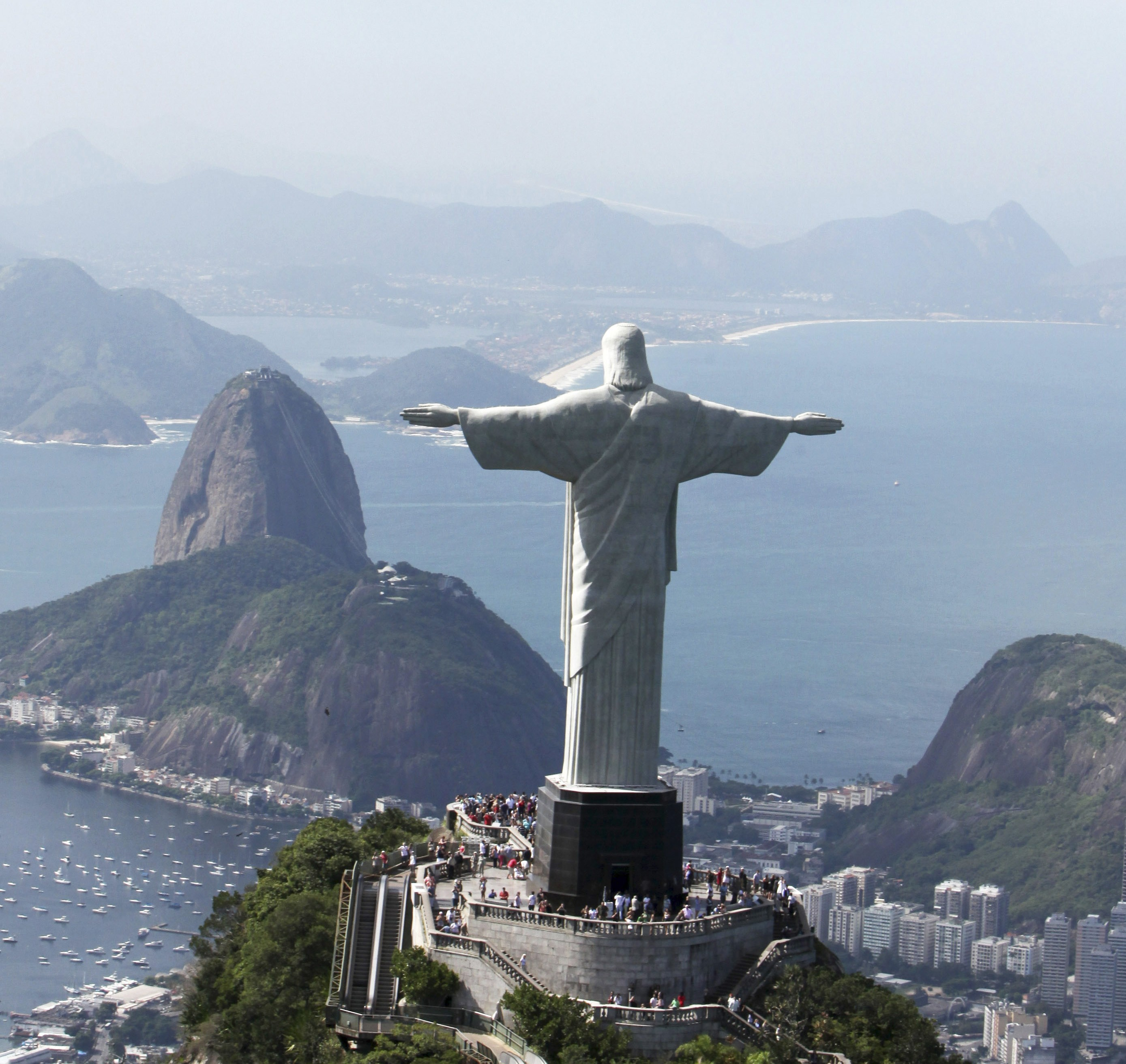 Christ the Redeemer statue, on Corcovado mountain in Rio