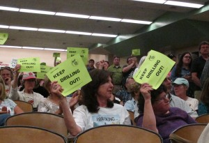 Everyone who spoke at the meeting voiced opposition to a proposal to expand natural gas drilling in the Loyalsock State Forest.