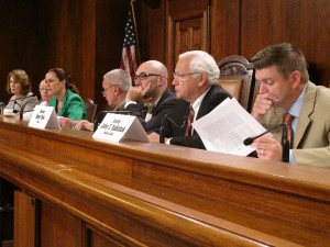 The Senate Environmental Resources and Energy committee listens to testimony alleging underpayment of gas royalties.