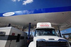 Smith Dairy, a regional, family-owned dairy, is switching its 200-truck fleet to natural gas burning vehicles. The company opened up their fueling station to the public. Cost is about $1.90 per gallon equivalent.