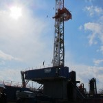 A natural gas drilling rig in Susquehanna County.