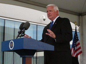 "Governor Tom Corbett says the new pooling law is not ""illegal."""