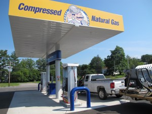 A CNG fueling station in Towanda.