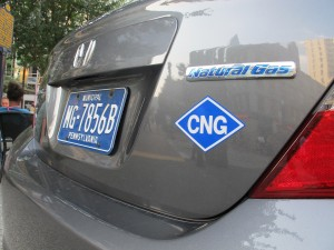 Bradford County recently bought two new Honda Civics that run on compressed natural gas.