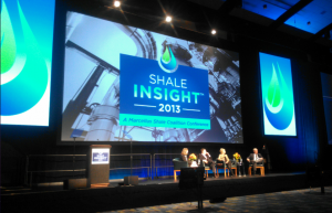 A panel discussion at the Marcellus Shale Coalition's annual industry conference in Philadelphia.