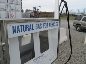 A Cabot Oil& Gas compressed natural gas fueling station in Susquehanna County, Pa.